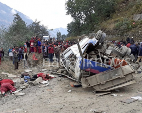UPDATE: Death toll climbs to 14 in Sindhupalchowk bus accident