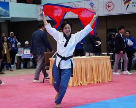 Aayesha Shakya wins gold in Taekwondo