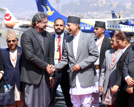 Pakistani PM Abbasi returns after wrapping up two-day Nepal visit