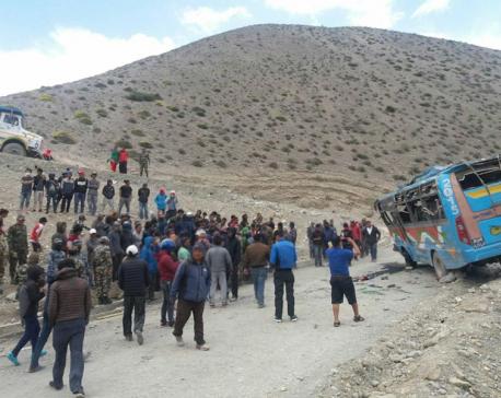 Deceased of Jomsom bus accident identified (Update)