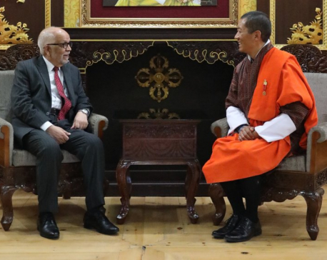 Ambassador Acharya presents credentials to Bhutanese King in Thimphu