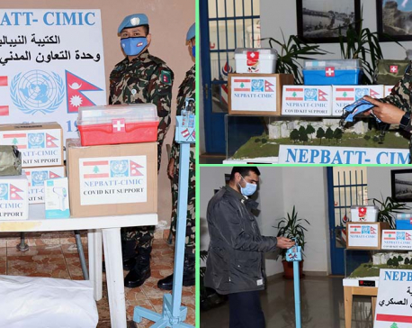 Nepal Army peace mission distributes COVID-19 kits to local community in Lebanon