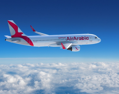 Air Arabia Abu Dhabi direct flight to Nepal welcomed with water cannon salute