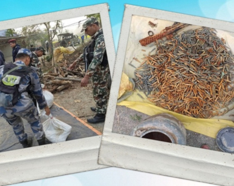 Police seize huge cache of arms from a poultry farm in Sunsari