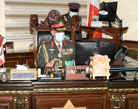 New army chief Prabhu Ram Sharma takes office