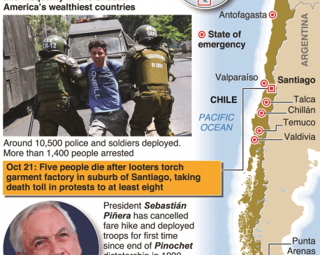 Chile president extends state of emergency