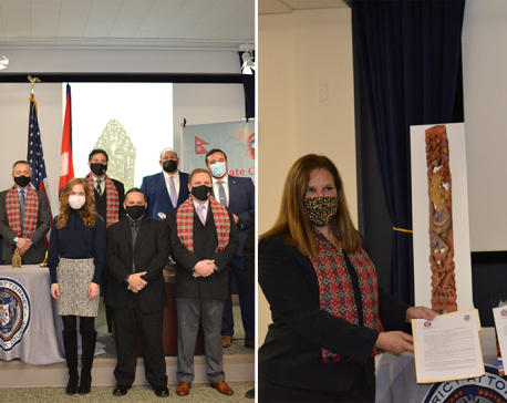US officials hand over three lost antiquities to Consulate General of Nepal in New York