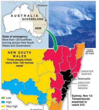 """Australia battles """"catastrophic"""" bushfires"""