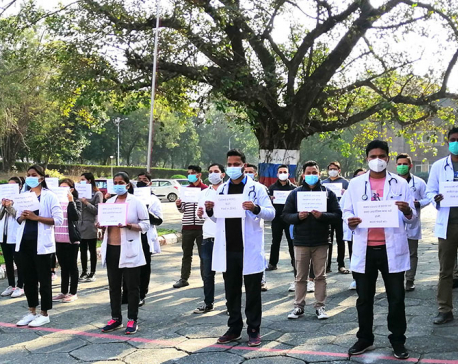 Junior residents boycott COVID-19 treatment, medical officers stage sit-in at BPKIHS