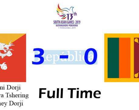 Bhutan thrashes Sri Lanka 3-0
