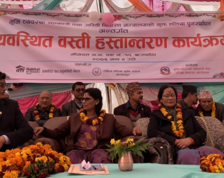 Govt hands over integrated settlement for freed Haliya in Kanchanpur