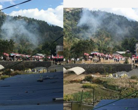 Bomb goes off near mass gathering attended by Oli, Dahal in Baglung