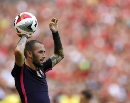 Barca's Vidal to miss rest of season after dislocating ankle