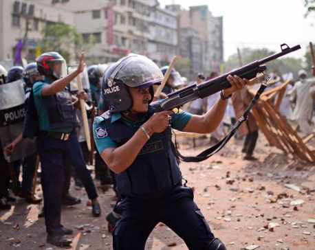 Four killed as police in Bangladesh clash with protesters during visit by Indian PM