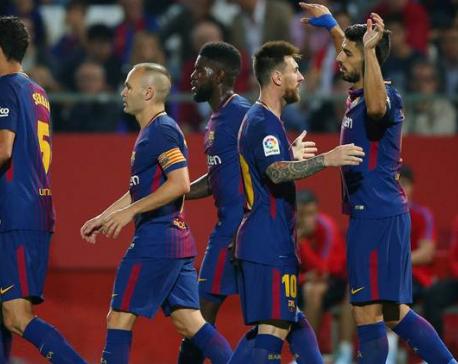 Barcelona prepares for Lisbon test
