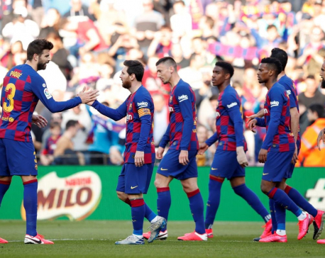 Barca players set for COVID-19 tests ahead of return to training