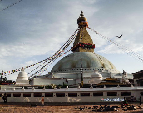 PHOTOS: Bauddhanath and Swayambhunath shrouded in silence despite Buddha Jayanti