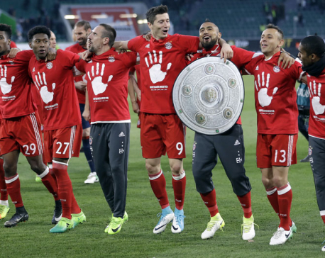 Bayern Munich wins record 5th straight Bundesliga title