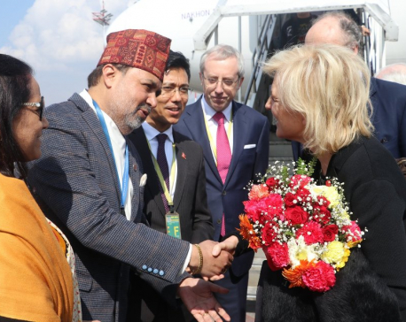 Princess Astrid of Belgium arrives in Kathmandu on week-long visit