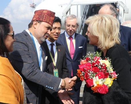 Princess Astrid of Belgium arrives in Kathmandu on week-long visit