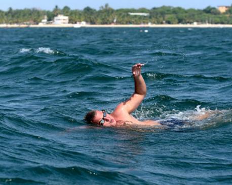 British swimmer to cross Atlantic, inspired by boyhood heroes