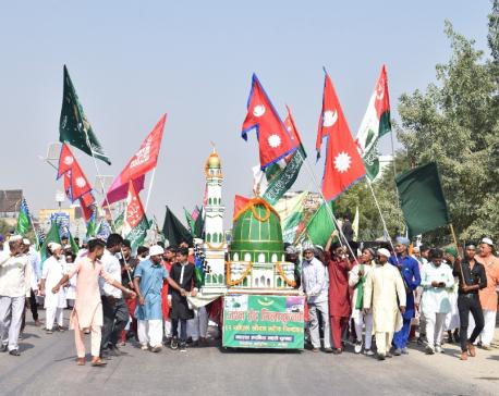 Hindus join Muhammad's birthday anniversary celebration rally in Bhairahawa (with photos)