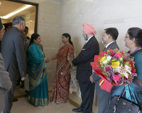 President Bhandari lands in New Delhi