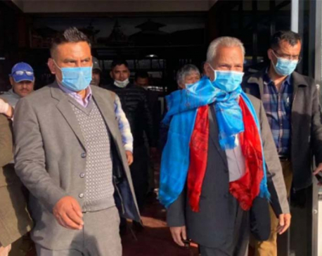 Ex-PM Bhattariai returns to Nepal after undergoing medical treatment in India