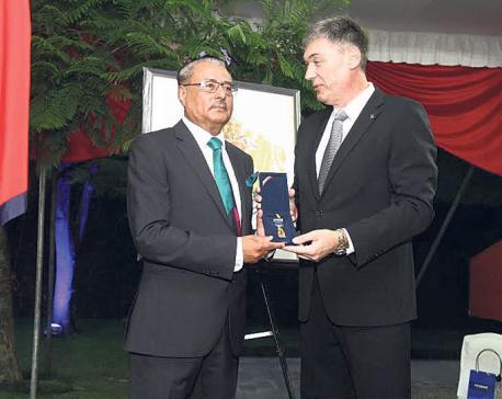 Bhola Bikram Thapa receives Bulgarian honor