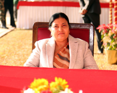 President Bhandari stresses qualitative development of journalism