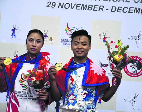 Tamang, Sinjali win golds in Wushu