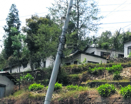 Dilapidated electricity poles pose threat to Ilam folks