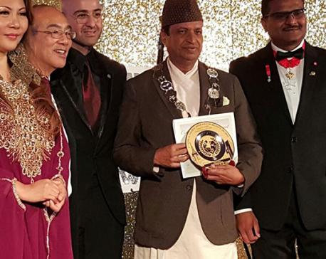 Binod Chaudhary receives 'Asian Man of the Year' award