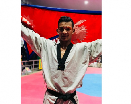 Another gold for Nepal, Bir Bahadur Mahara wins in Taekwondo