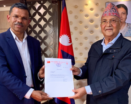 NCP's Oli-led faction dismisses Dev Gurung as party's chief whip, brings Bishal Bhattarai in his place
