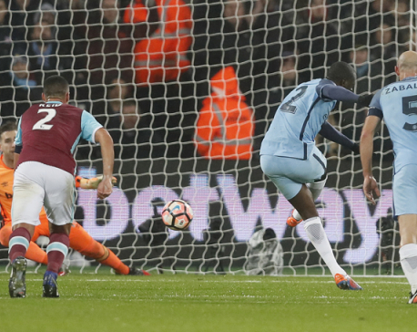 Man City routs West Ham 5-0 to reach FA Cup 4th round