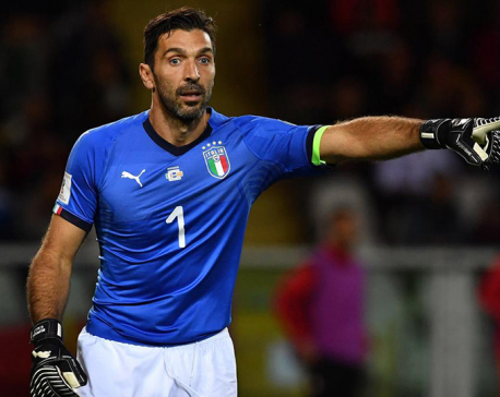 Buffon says will accept offer to play again for Italy