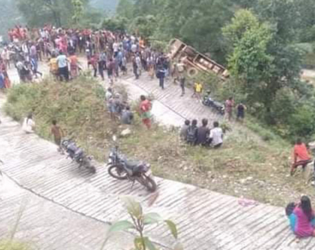 Two killed, 41 others injured in Sindhupalchowk bus accident
