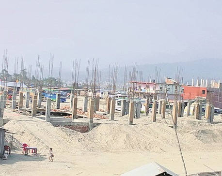 Udayapur bus terminal construction in full swing