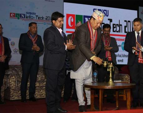 CAN Info-Tech begins in Bhrikutimandap