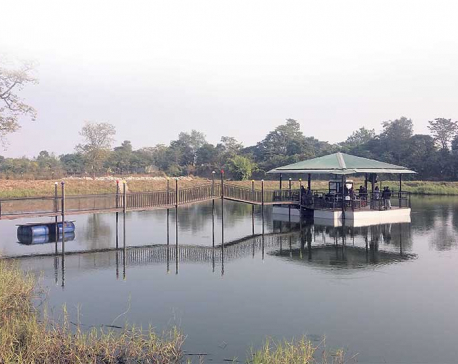 New resort offers fine dining in a pond