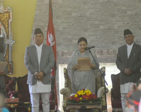 CJ Karki, CEC Yadav take oath of office and secrecy