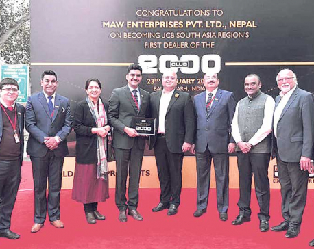 MAW Earthmovers becomes best JCB dealer in S Asia