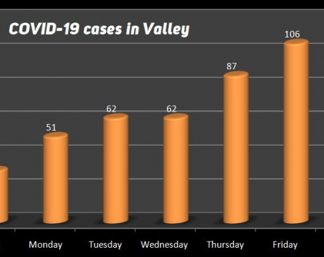 Kathmandu Valley records 62 new COVID-19 cases in past 24 hours; 461 cases this week