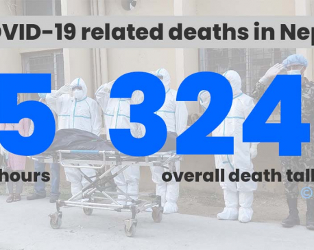 35 COVID-19 deaths reported in Nepal in past 24 hours; 4,928 new infections