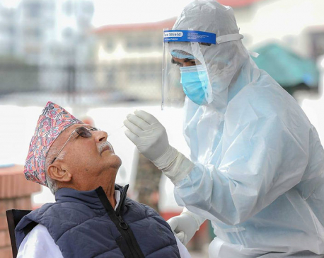 PM Oli undergoes PCR test for COVID-19