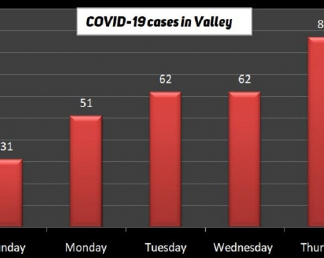 87 new COVID-19 cases reported in Kathmandu Valley; 293 in last five days
