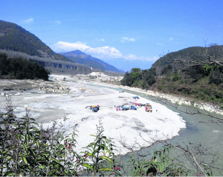 Crusher plants polluting Seti River