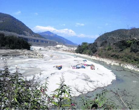 Crusher plants polluting Seti River