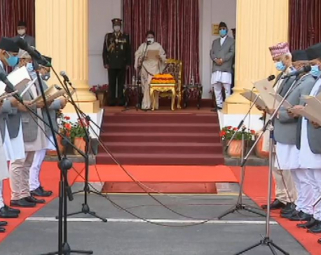 KP Oli sworn in again as PM, no new faces in new cabinet